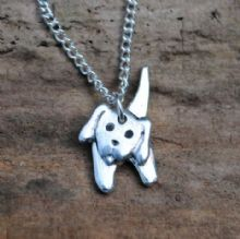3D Puppy dog pendant necklace P86